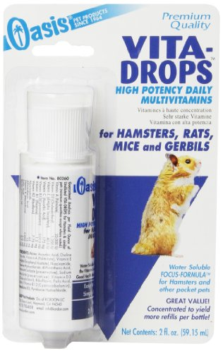 OASIS #80260 Vita Drops for Hamsters, 2-Ounce