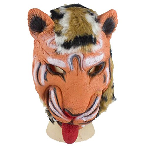 AutumnFall® Tiger Mask Latex Animal Costume Prop Halloween