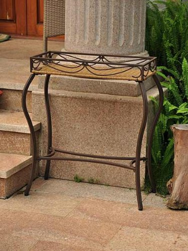 International Caravan Valencia Outdoor Wicker Resin Plant Stand picture