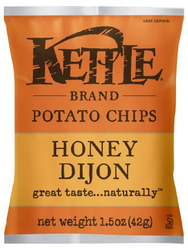 Kettle Brand Potato Chips, Honey Dijon, 1.5-Ounce Bags (Pack of 24) (Kettle Brand Chips compare prices)