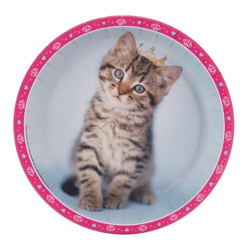 rachaelhale Glamour Cats Dinner Plates (8) Party Supplies