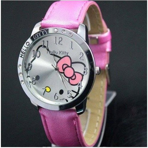 Brand New Kitty Classic Ladies Quartz Wrist Watch   Pink
