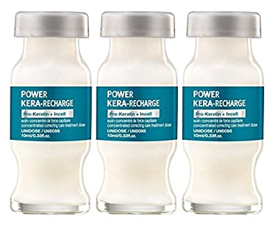 L'Oreal Professional Keratin Power Kera-Recharge Pro-Keratin Expert Serie Hair Treatment Dose - 3 viols of 0.33 fl. oz. (10 ml)