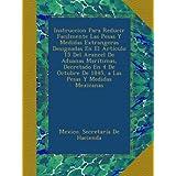 Instruccion Para Reducir Facilmente Las Pesas Y Medidas Extrangeras Designadas En El Artículo 15 Del Arancel De...