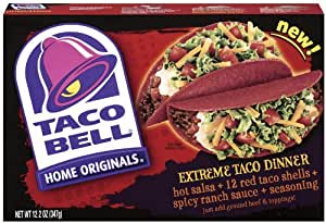 Taco Bell Extreme Dinner Kit, 12.2-Ounce (Pack of 6)