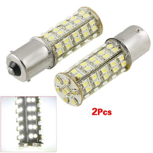 Sodial(R) 2 Pcs White 1156 P21W Ba15S 68 Smd Led Brake Tail Turn Signal Rear Light Bulb Lamp