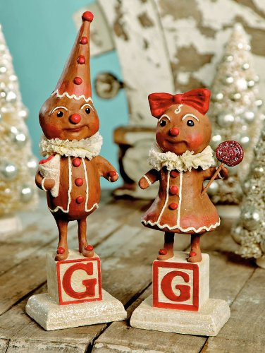 Christmas Decorations - Gingerbread Couple - Gingerbread Man and Gingerbread Woman
