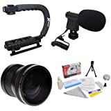 Extreme Shooters Kit Featuring Opteka HD .20x Professional Super AF Fisheye Lens Opteka X-GRIP Professional Camera...
