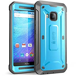 HTC One M9 Case, SUPCASE Full-body Rugged Holster Case with Built-in Screen Protector for HTC One M9 (2015 Release), Unicorn Beetle PRO Series - Retail Package (Blue/Black)
