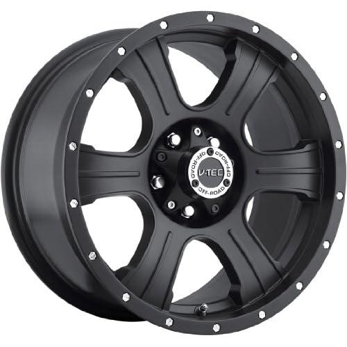 V Tec Assassin 16 Matte Black Wheel / Rim 8x6.5 with a  6mm Offset and a 125.2 Hub Bore. Partnumber 396 6881MB 6