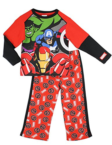 Character Boys' Marvel Avengers Captain America Ironman Thor & The Hulk Pajamas
