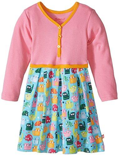 Zutano Little Girls' Cats Meow Pretty Pleats Dress