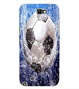 ColourCraft Football in Water Design Back Case Cover for SAMSUNG GALAXY NOTE 2 N7100