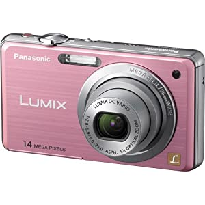 Panasonic Lumix DMC-FH3 14.1 MP Digital Camera with 5x Optical Image Stabilized Zoom and 2.7-Inch LCD (Pink)