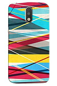 Omnam stipes printed back cover fabric pattern For Motorola Moto G4