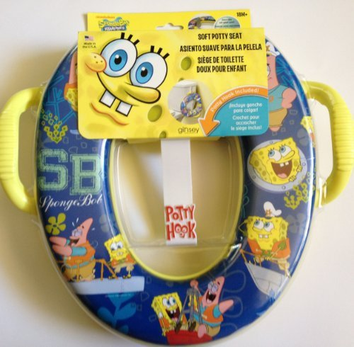 SPONGE BOB spongebob Nickelodeon Soft Potty Seat with hook & handles by ginsey - 1