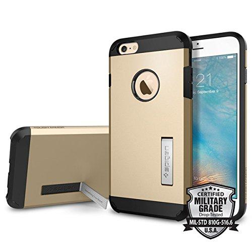 Spigen iPhone6s Plus ケース / iPhone6 Plus ケース, タフ・アーマー [エアクッションテクノロジー] アイフォン6s プラス /  6 プラス 用 米軍MIL規格取得 耐衝撃カバー (シャンパン・ゴールド SGP11659)