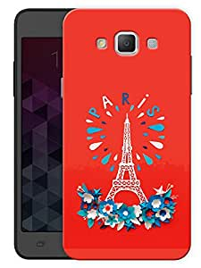 """Humor Gang Eiffel Tower - Paris - Red Printed Designer Mobile Back Cover For """"Samsung Galaxy E5"""" (3D, Matte, Premium Quality Snap On Case)"""
