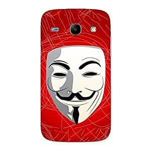 Red Anonymous Mask Back Case Cover for Galaxy Core