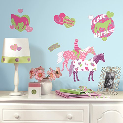 Horse Crazy Peel & Stick Wall Decals 10 x 18in