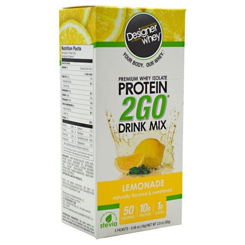 Designer Whey Protein 2Go Drink Mix Lemonade -- 5 Packets