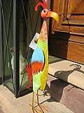 Formschöner, farbenfroher Vogel aus Metall Bird Kiki Vogelskulptur Wohndeko Wohnaccessoire Gartenfigur, Gartendeko, Dekofigur