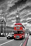 Laminated London Routemaster Red Bus Classic Iconic Mini Poster Measures 23.5