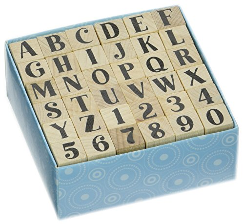 "Inkadinkado Bills Alphabet Uppercase Set Mounted Rubber Stamp, 3"" by 3"""