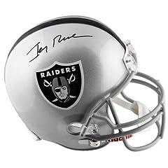 Jerry Rice Autographed Oakland Raiders Replica Helmet - JSA SM - - JSA Certified by Sports Memorabilia