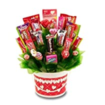 Happy Valentines Valentine's Day Hugs and Kisses Candy Chocolate Gift Basket Free Ground Shipping