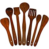 Handmade Wooden Serving And Cooking Spoon Kitchen Utensil Set Of 7