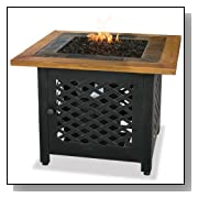 Outdoor Gas Firebowl with Slate and Mantel