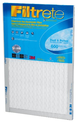 Filtrete Clean Living Dust Reduction, MPR 600, 20 x 20 x 1-Inches, 6-Pack