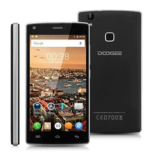 "DOOGEE X5 MAX Pro - Smartphone Móvil Libre 4G Android 6.0 (5.0"" HD Pantalla, Dual Sim, Quad Core, 16Gb Rom, 2Gb Ram, 5Mp Cámara, WIFI, GPS, OTA, Gesto Inteligente), Negro"