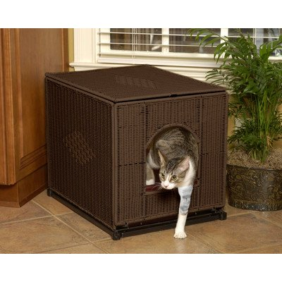 Decorative Litter Box Cover Color: Dark Brown, Size: Large (19