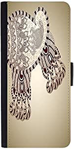 Snoogg Abstract Floral Background Designer Protective Phone Flip Case Cover For Phicomm Energy 653 4G