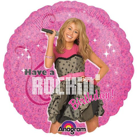 "Hannah Montana - Rock the Stage 18"" Foil Balloon - 1"
