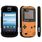 DuroCase ® ZTE Valet Z665C / ZTE Director N850L / ZTE Fury N850 Hard Case Black - (Gameboy Orange)