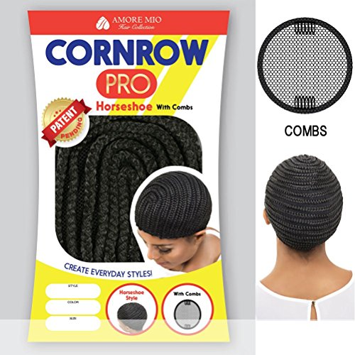 Amore-Mio-CORNROW-PRO-CAP-Horseshoe-with-Combs-Mesh-Weave-Cap