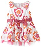 Little Lass Baby-Girls Newborn 1 Piece Woven Dress With Ruffles