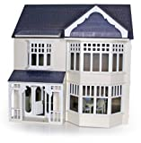 Cream 3 Storey Fulham Wooden Dolls House Kit