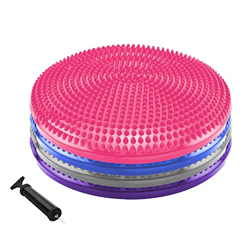 Why Should You Buy Yogree Core Balance Stability Disc Trainer - 14 Diameter Wobble Cushion w/ Air P...