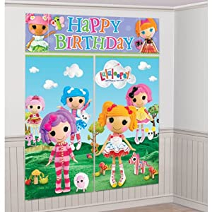 LaLaLoopsy Giant Scene Setter Wall Decorating Kit Birthday Party