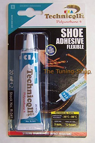 Technicqll - Colla adesiva forte per scarpe, pelle, gomma, nylon, similpelle e tessuti, tubetto da 20 ml