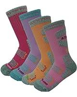 4Pack Women's ATB Coolmax Cushioned Performance/Hiking Crew Socks Summer