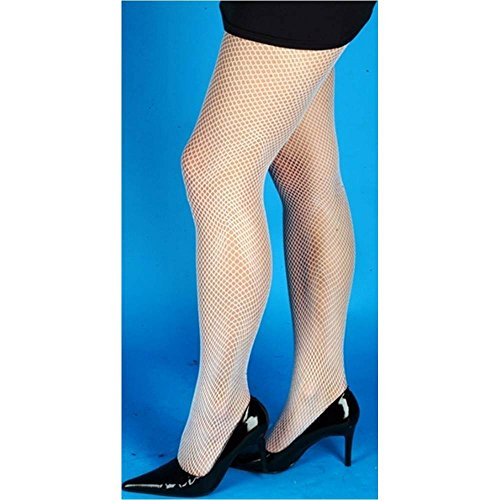 White Adult Fishnet Tights