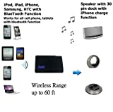 A2DP Bluetooth Music Receiver Adapter for Bose Sounddock Portable made in 2008/2009 & Sony Speakers can charge iphone 2 3 or 4