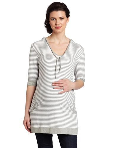 Ripe Maternity Women's Oversized Stripe Shirt