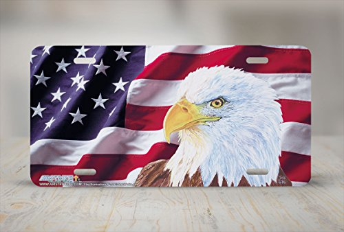 Flag Illumination II - Patriotic - Wildlife Decor Art Print - License Plate Tag By Jason Fetko From Airstrike