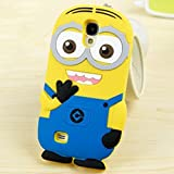 Go Crazzy Despicable Me Minion Back Case For Samsung Galaxy S4 I9500 (YELLOW-BLUE)